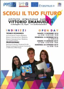 foto manifesto open day V. Emanuele II (1)